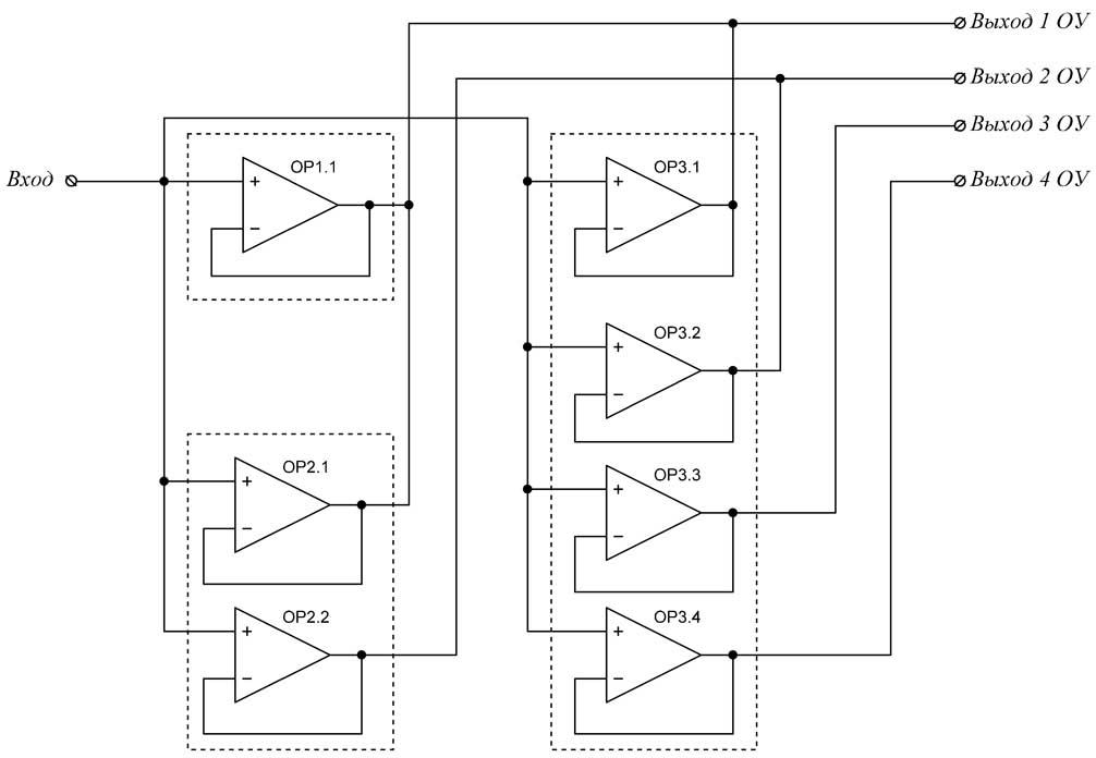 Принципиальная схема панели